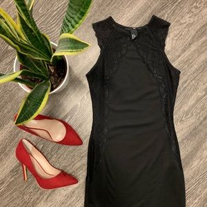 XS Little Black Dress with Lace accents